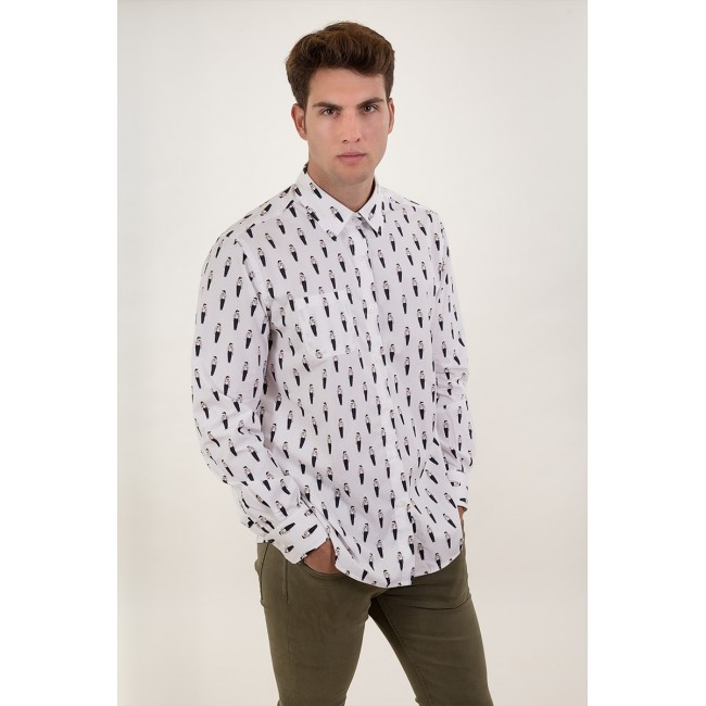 Camisa Estampada Amish